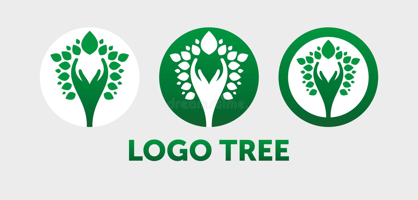 Illustration abstraite de vecteur de logo d'arbre illustration libre de droits