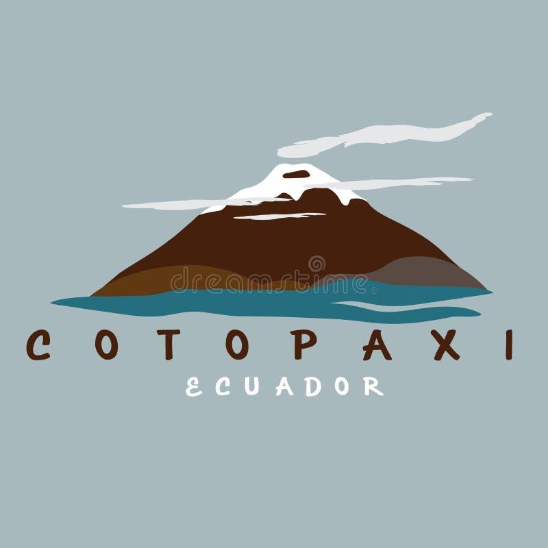 illustration abstraite de volcan le Cotopaxi en Equateur illustration de vecteur