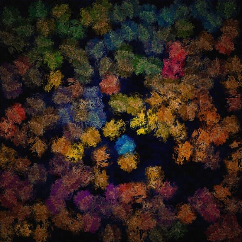 Illustration abstraite des calomnies chaotiques colorées, taches de peinture illustration libre de droits