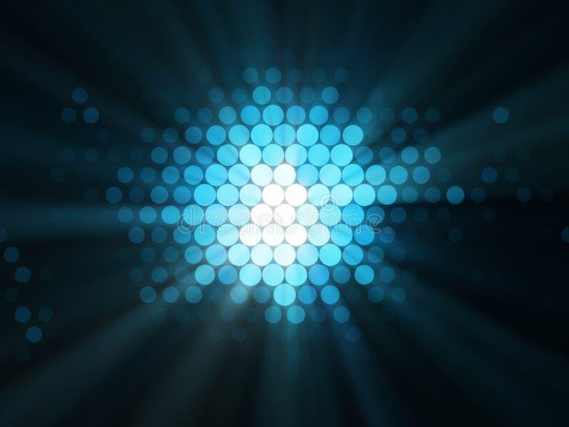Illustration abstraite des effets de la lumière illustration stock