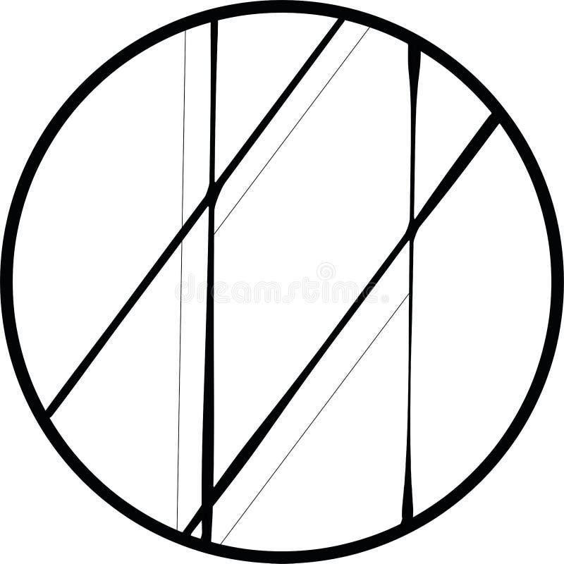 Illustration abstraite faite en lignes et cercle image stock