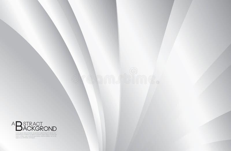 Illustration abstraite grise de vecteur de fond, calibre de conception de couverture, vecteur de courbure argenté, disposition d' illustration stock