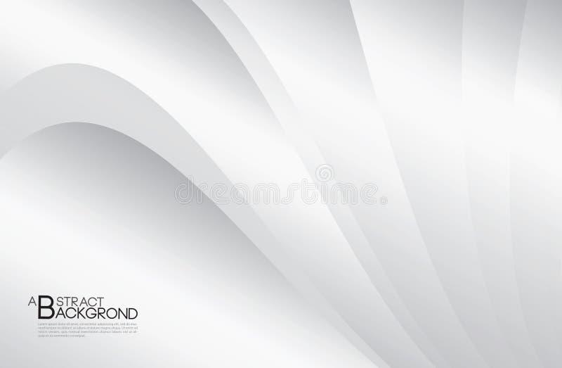 Illustration abstraite grise de vecteur de fond, calibre de conception de couverture, vecteur de courbure argenté, disposition d' illustration libre de droits