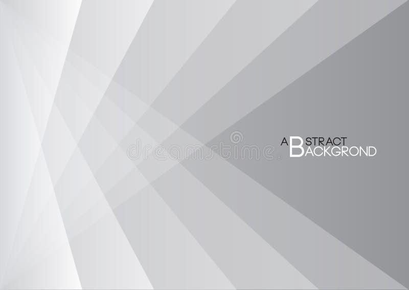 Illustration abstraite grise de vecteur de fond, couverture blanche illustration de vecteur