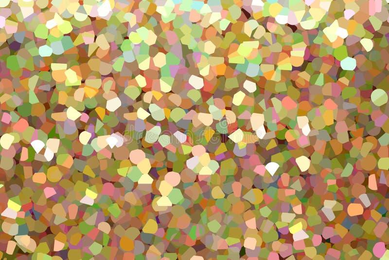 Illustration abstraite, modèle coloré en verre de mosaïque illustration de vecteur