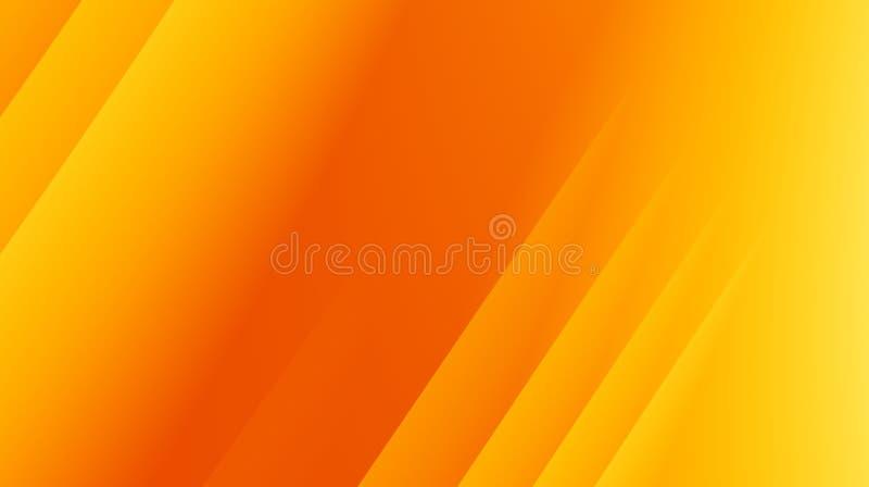 Illustration abstraite moderne jaune-orange de fond de fractale avec les lignes diagonales parallèles illustration stock