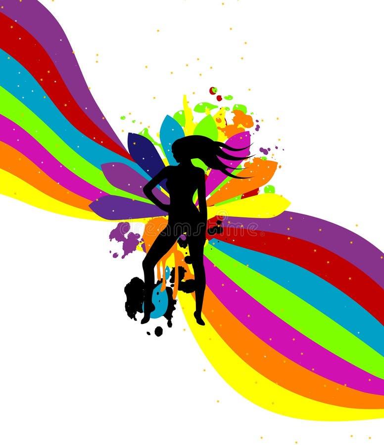 Illustration abstraite musicale de vecteur illustration stock