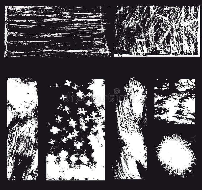 Illustration abstraite noire et blanche assortie photographie stock