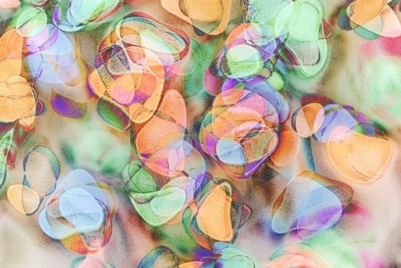 Illustration, abstrakt bakgrund som göras med mjuka skuggor av färger, och kornteknologi stock illustrationer