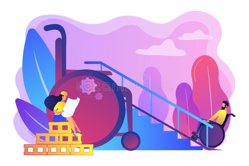 Illustration accessible de vecteur de concept de construction d'environnement illustration libre de droits