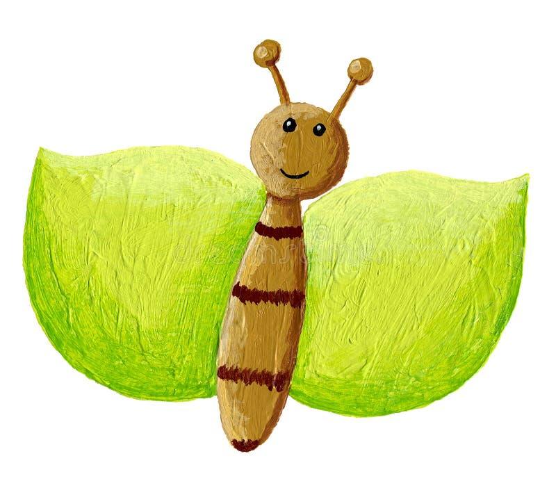Papillon vert illustration de vecteur