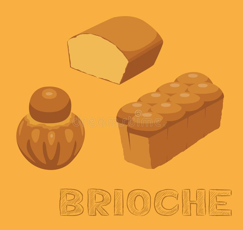 Illustration aimable de vecteur de brioche de pain illustration de vecteur