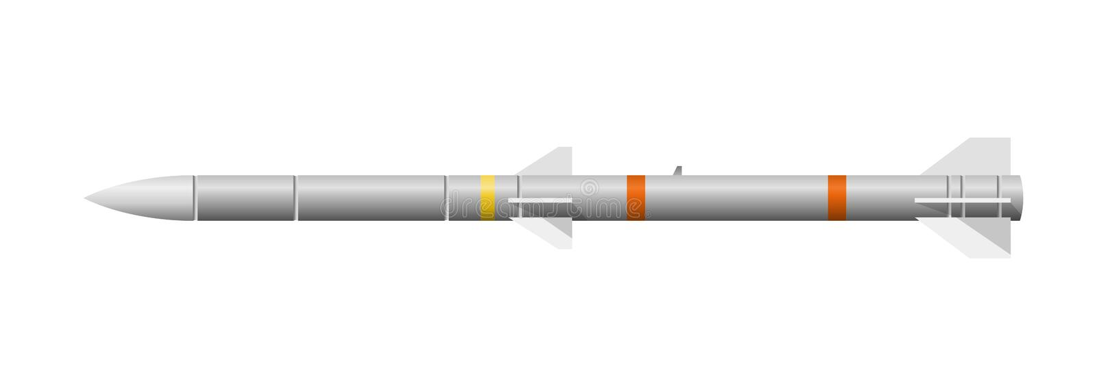 Missile. Illustration of air-to-air missile. Vector available stock illustration