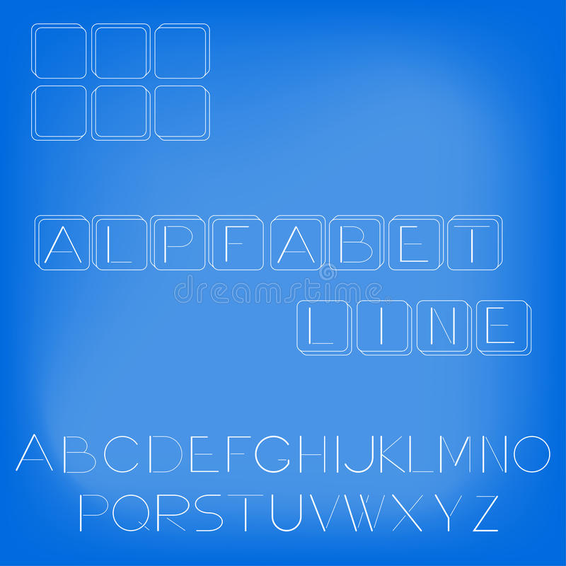 Illustration of the alphabet in a linear style stock photo