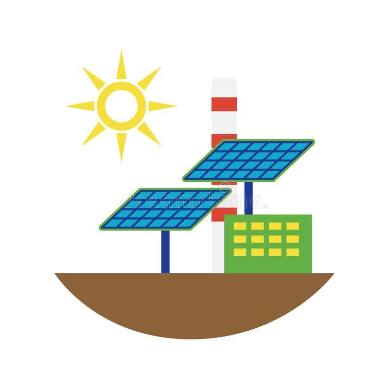 Illustration alternative de vecteur de panneaux solaires de source d'énergie illustration de vecteur