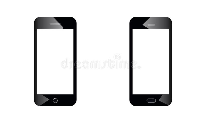 Android Mobile Phone - Android Touch Screen Mobile Phone Latest Model vector illustration