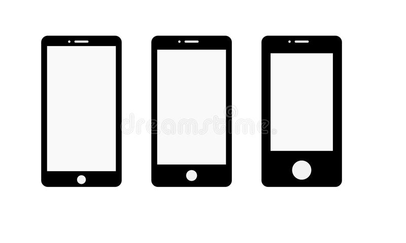 Android Mobile Phone - Cell Phone Icon. Illustration of android touch screen mobile phone latest model. stylish touch screen cellphone mock-up. Generic android royalty free illustration