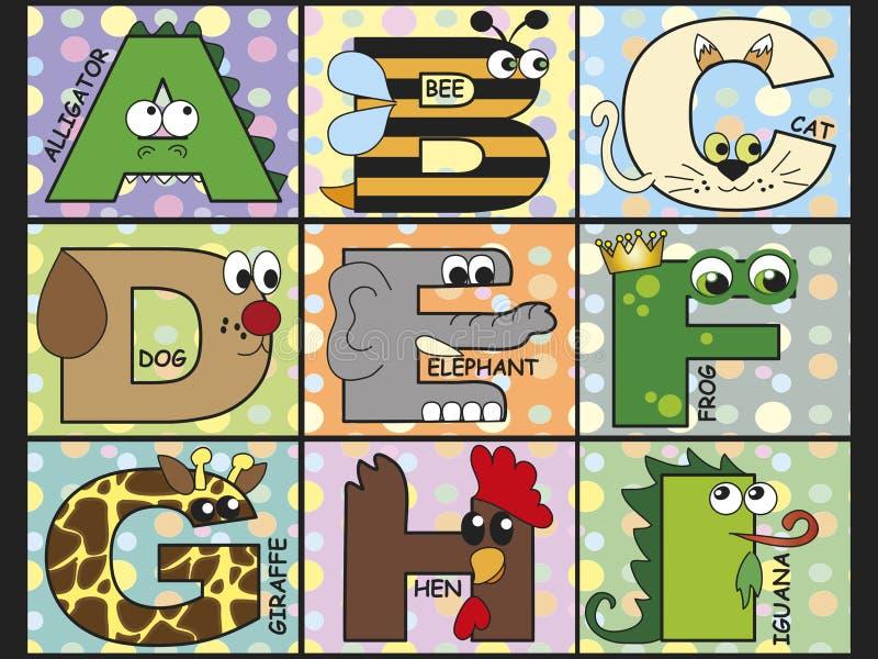 Download Animal alphabet stock illustration. Image of children - 30015916