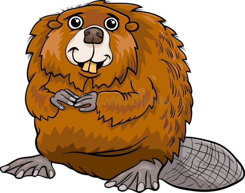 Illustration animale de bande dessinée de castor illustration libre de droits