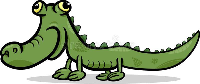 Illustration animale de bande dessinée de crocodile illustration libre de droits