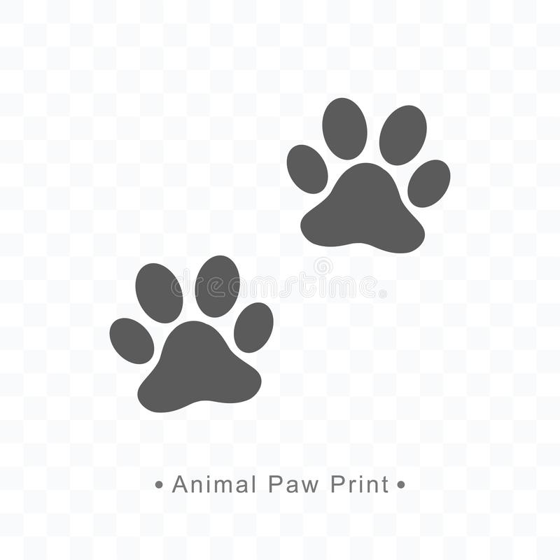 Illustration animale de vecteur d'icône d'impression de patte sur le fond transparent illustration de vecteur