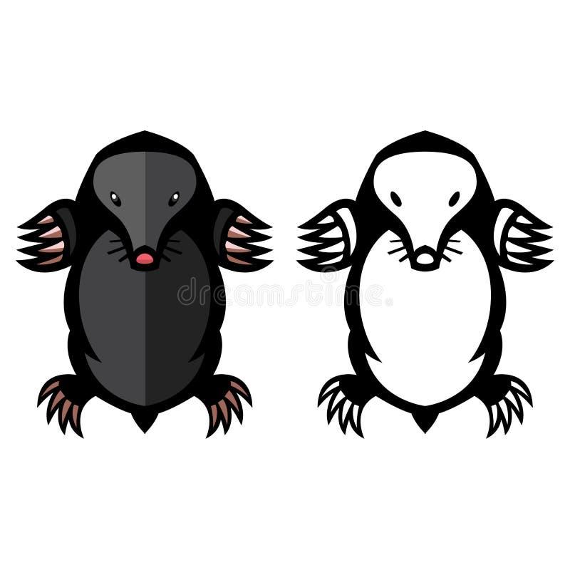 Illustration animale de vecteur de parasite de taupe illustration stock