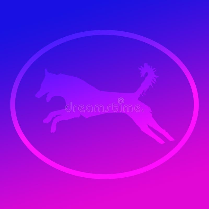 Illustration animale Logo Banner Image de chien qualifiée par animal familier domestique illustration stock