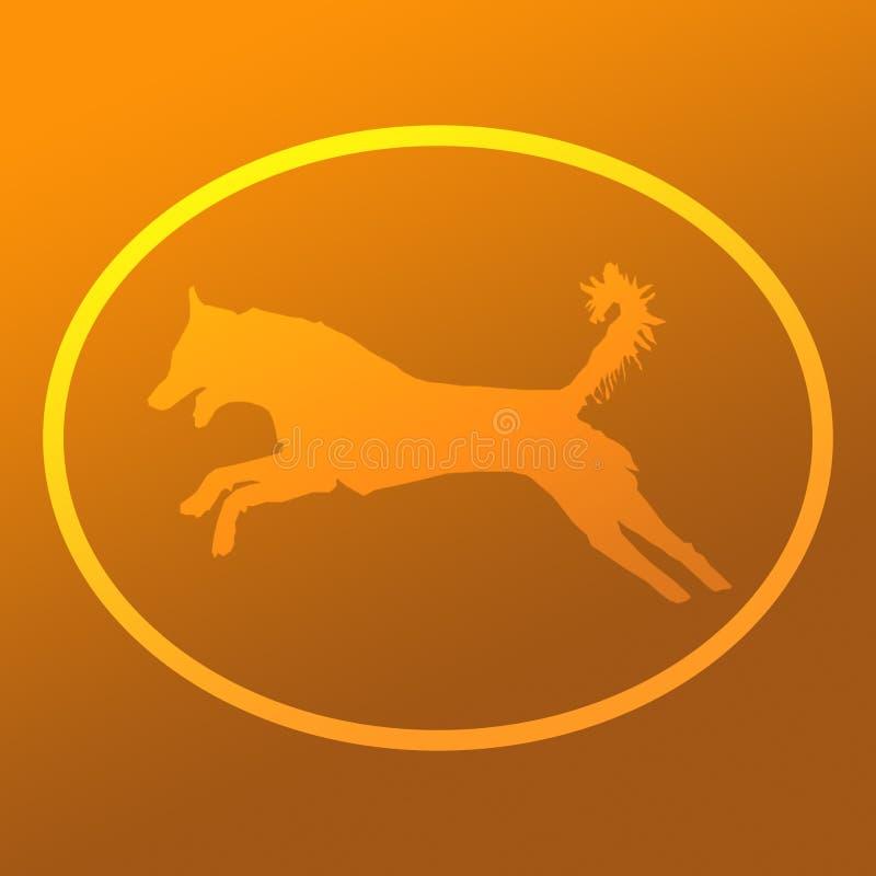 Illustration animale Logo Banner Image de chien qualifiée par animal familier domestique illustration libre de droits