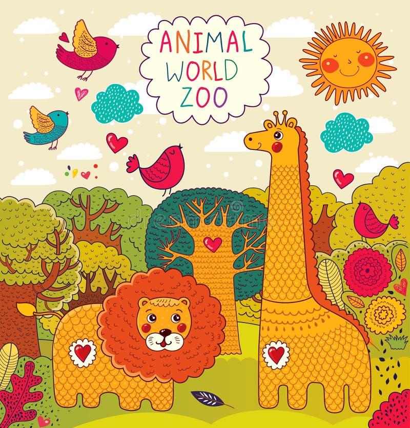 Illustration with animals vector illustration