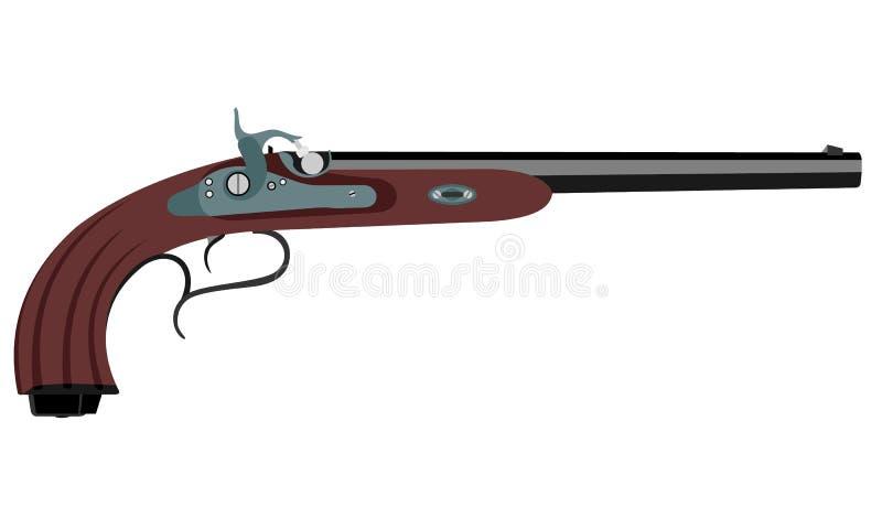 Illustration antique de vecteur d'arme à feu photographie stock libre de droits