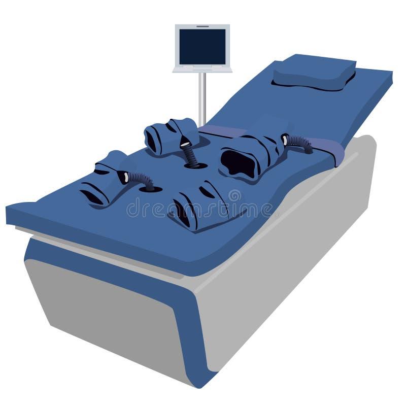 Illustration of an APC chair. Illustration of an APC all purposes chair stock illustration