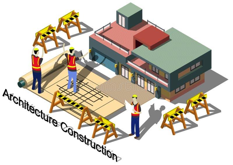 Illustration Architektur-Baukonzeptes der Informationen des grafischen vektor abbildung