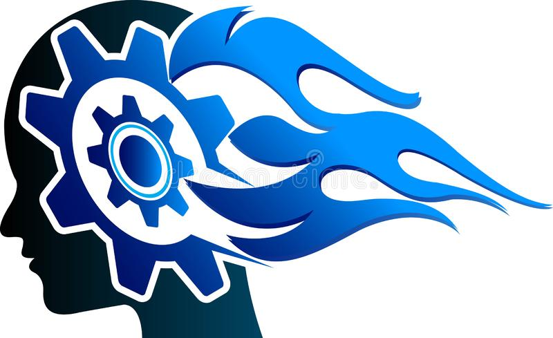 Head gear logo royalty free illustration