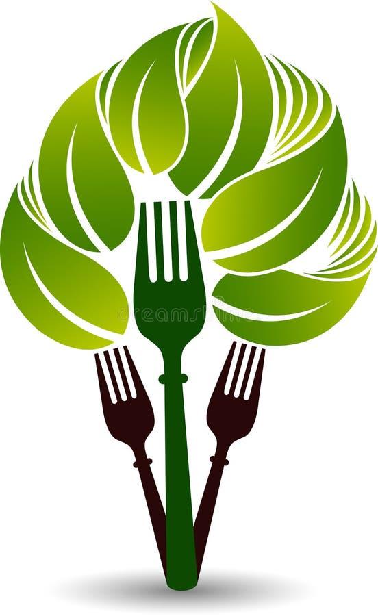 Organic food logo. Illustration art of a organic food logo with isolated background vector illustration