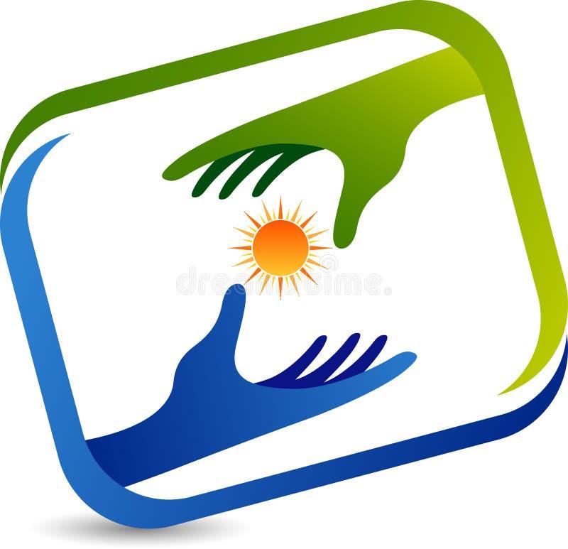 Power hands logo stock illustration