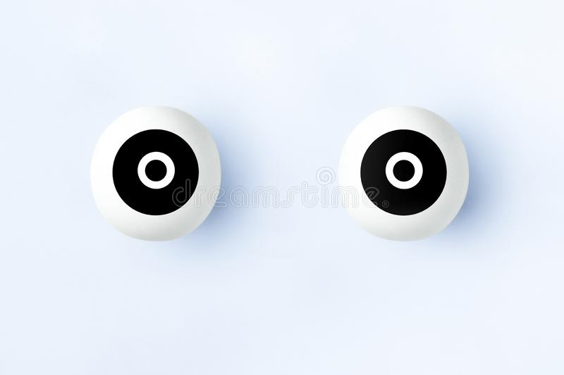 Illustration of artificial eyes royalty free stock image