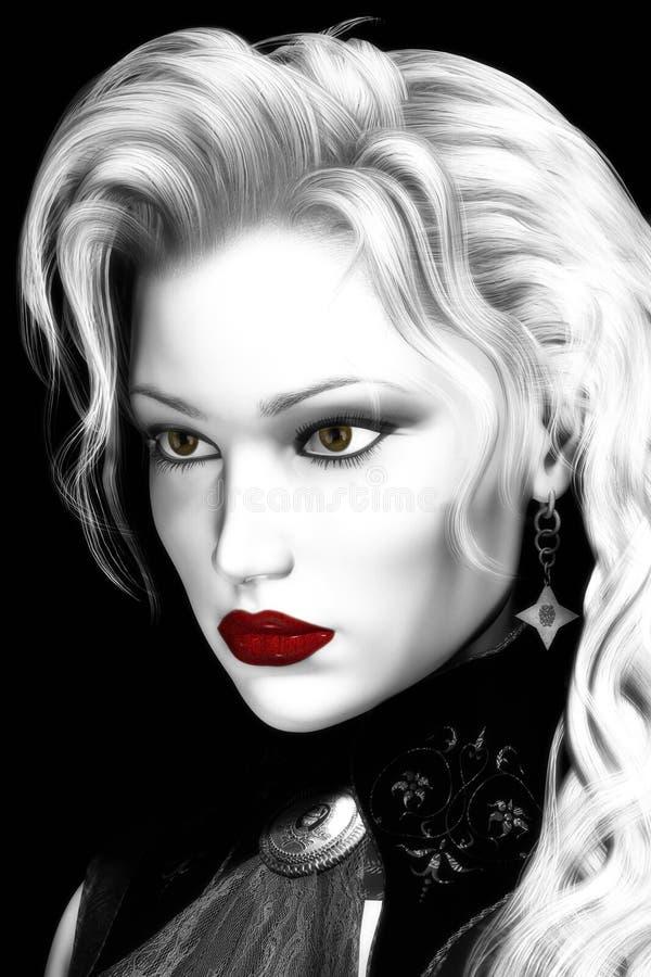 Illustration artistique de beau femme illustration stock