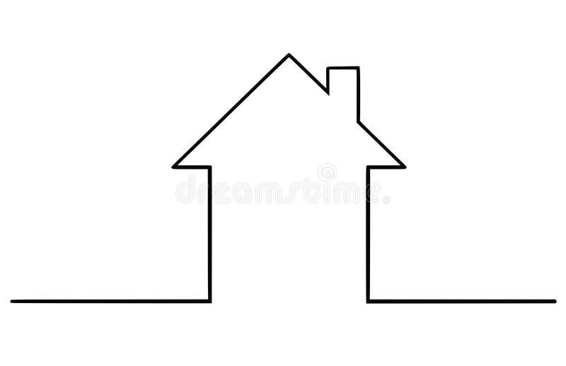 Illustration artistique de dessin de vecteur de silhouette simple de Chambre de famille illustration de vecteur