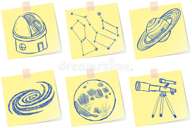 Download Astronomy And Observatory Sketches Stock Images - Image: 30289554
