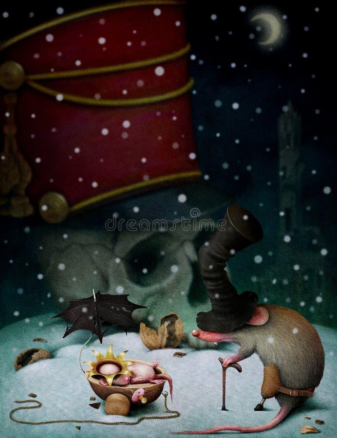 Illustration au conte de fées le casse-noix illustration de vecteur
