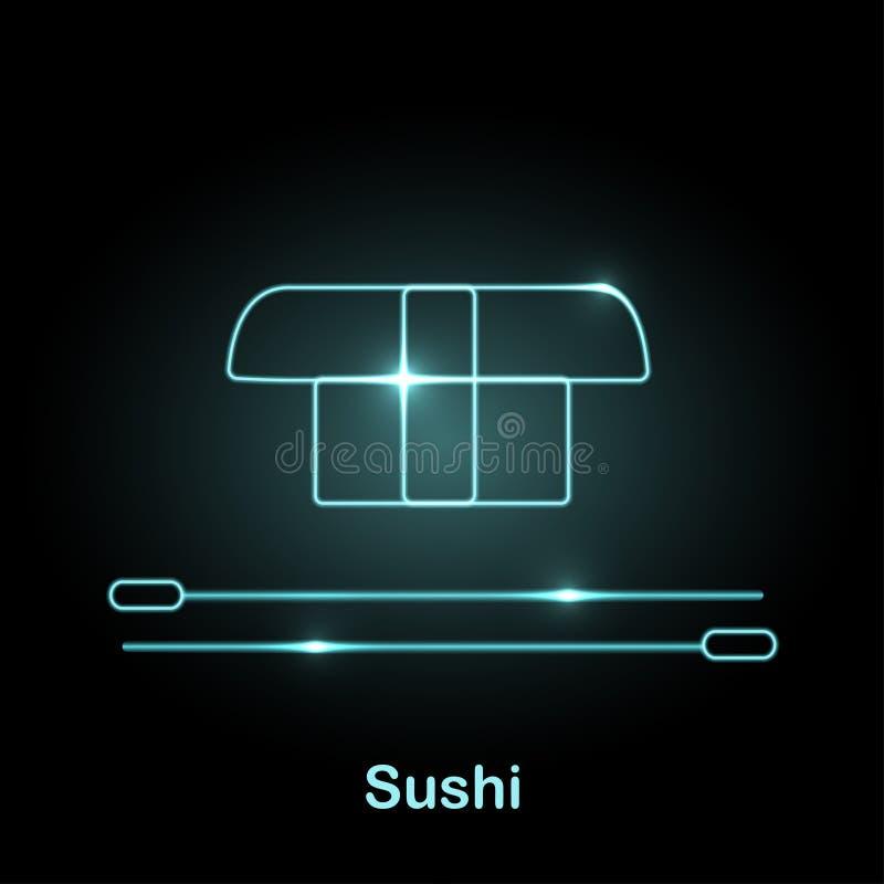 Illustration au néon de vecteur d'icône de nourriture illustration de vecteur