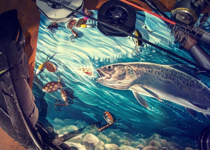 Illustration au sujet de la pêche illustration stock