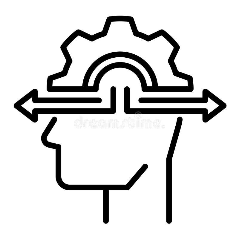 Illustration au trait prise de décision illustration de vecteur