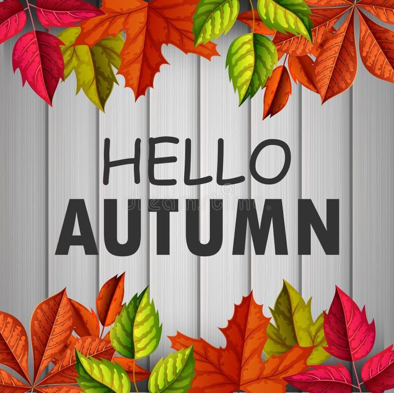 Autumn Background illustration royalty free illustration