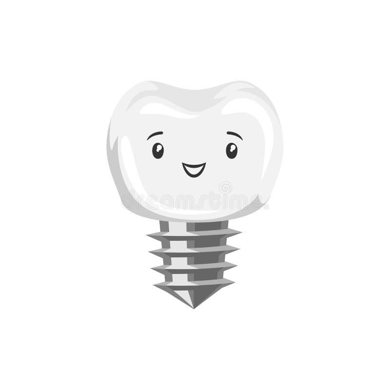 Illustration av att le tandimplantatet stock illustrationer