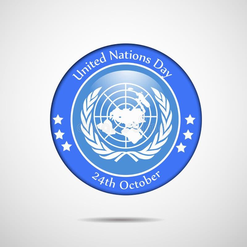 Illustration av bakgrund för Förenta Nationernadag royaltyfri illustrationer