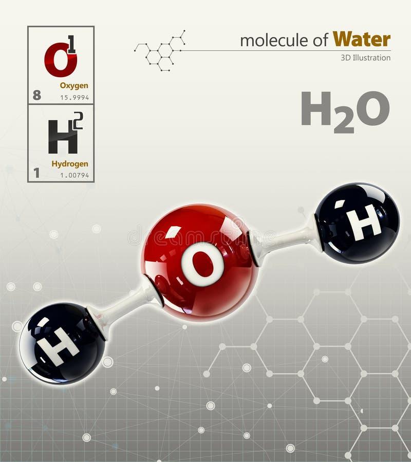 Illustration av bakgrund för grå färger för vattenmolekyl stock illustrationer