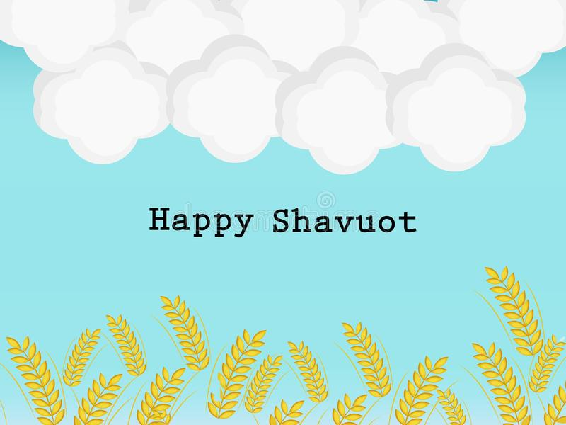illustration av beståndsdelar av judisk ferieShavuot bakgrund royaltyfri illustrationer
