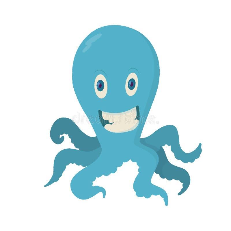 Illustration av bläckfisken royaltyfri illustrationer