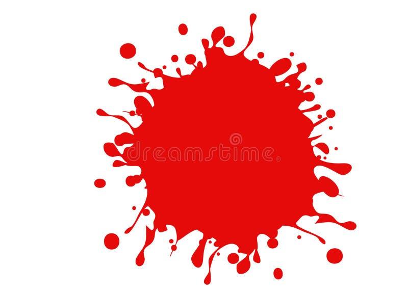 illustration av blod att stänka på vit bakgrund stock illustrationer